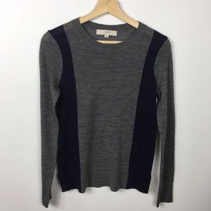 Ann Taylor Loft colorblock wool sweater small
